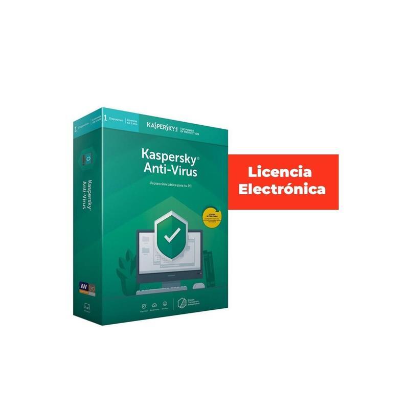 ANTIVIRUS KASPERSKY 2020 ANTIVIRUS 1 LICENCIA (LIC.ELECTRONICA)