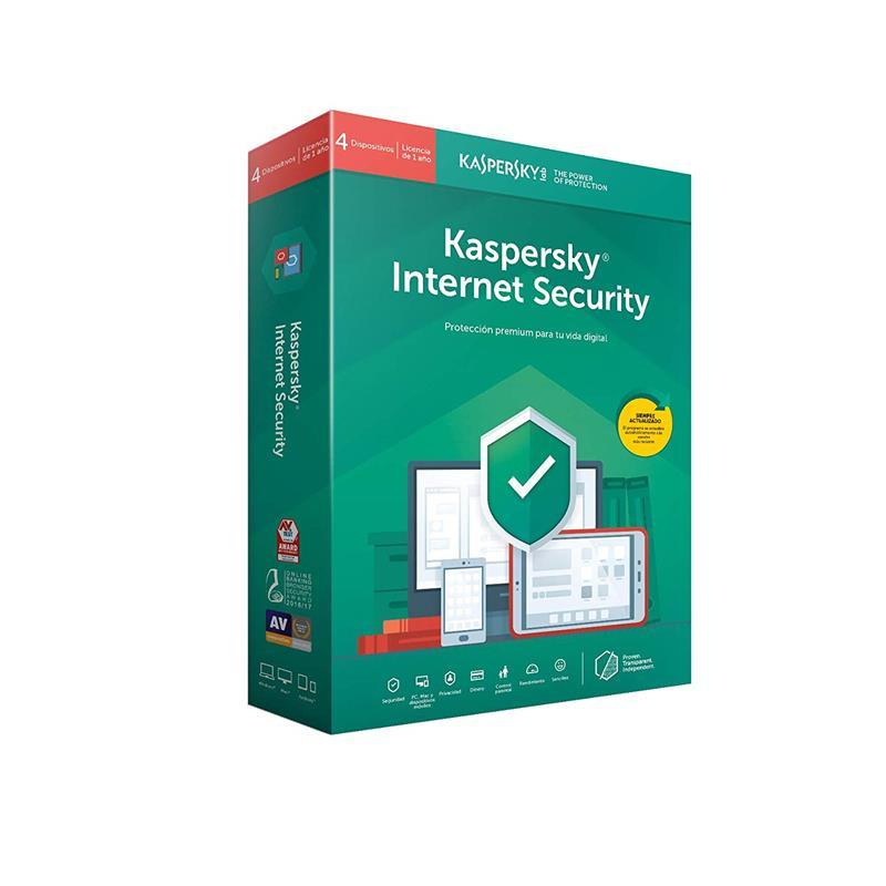 ANTIVIRUS KASPERSKY 2020 INTERNET SECURITY MULTIDEVICE 4 LICENCIAS