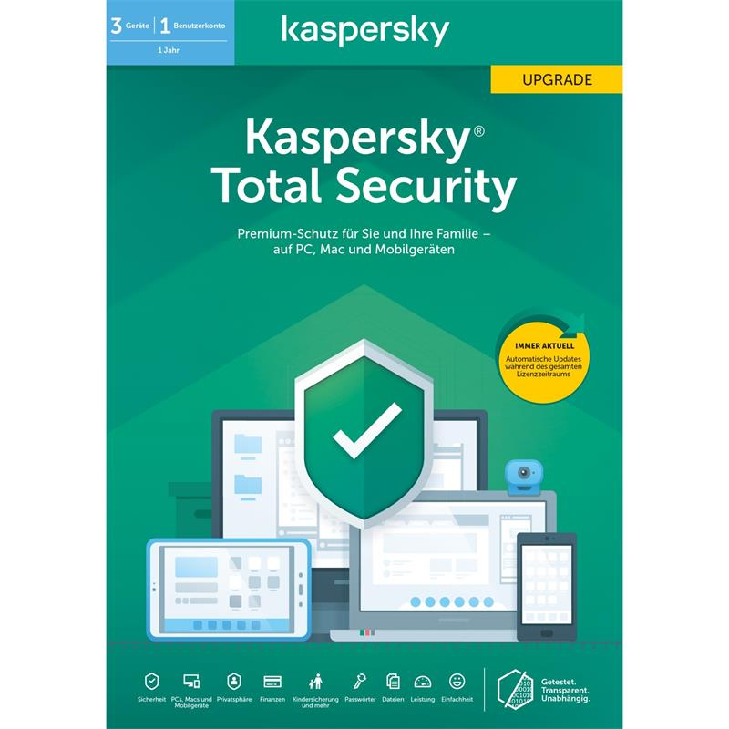 ANTIVIRUS KASPERSKY 2020 TOTAL SECURITY 3 LICENCIAS + SAFE KIDS (LIC.ELECT)