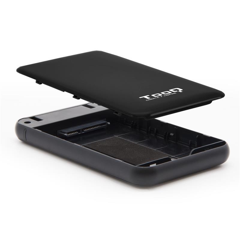 CAJA EXTERNA TOOQ TQE-2528B HDD 2.5 SATA USB 3.1 GEN1 SSD BLACK