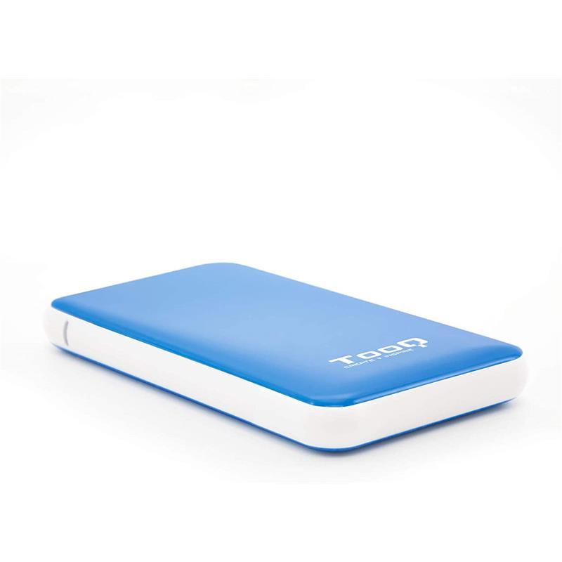 CAJA EXTERNA TOOQ TQE-2528B HDD 2.5 SATA USB 3.1 GEN1 SSD BLUE