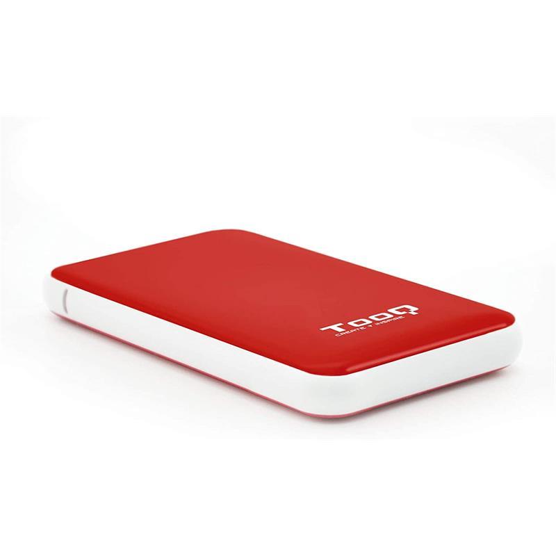 CAJA EXTERNA TOOQ TQE-2528B HDD 2.5 SATA USB 3.1 GEN1 SSD RED