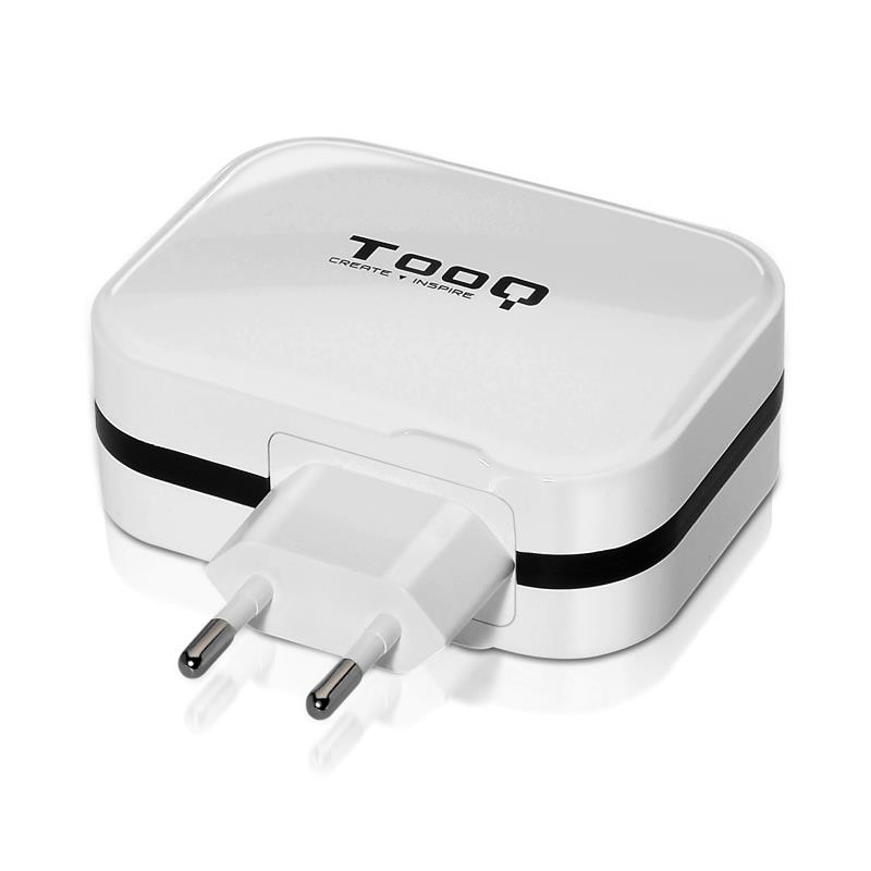 CARGADOR SMARTPHONE/TABLET TOOQ 4 PUERTOS USB WHITE