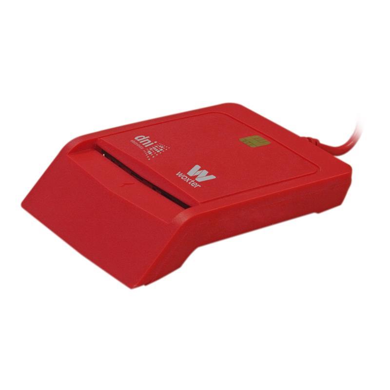 LECTOR DE TARJETAS DNIE WOXTER DNI USB RED