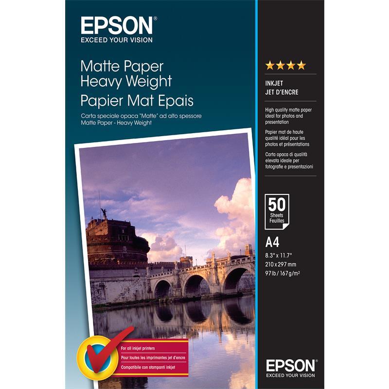 PAPEL EPSON C13S041256 A4 50 HOJAS 167GR.