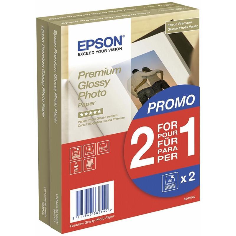 PAPEL EPSON C13S042167 10x15CM 40 HOJAS 255GR 2X1