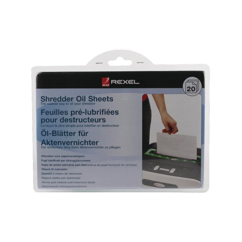 PAPEL LUBRICANTE REXEL PACK 20 UNIDADES