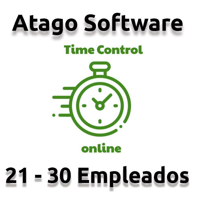 TIME CONTROL DE PRESENCIA ATAGO EN LA NUBE 21-30 EMPLEADOS ( ANUAL )
