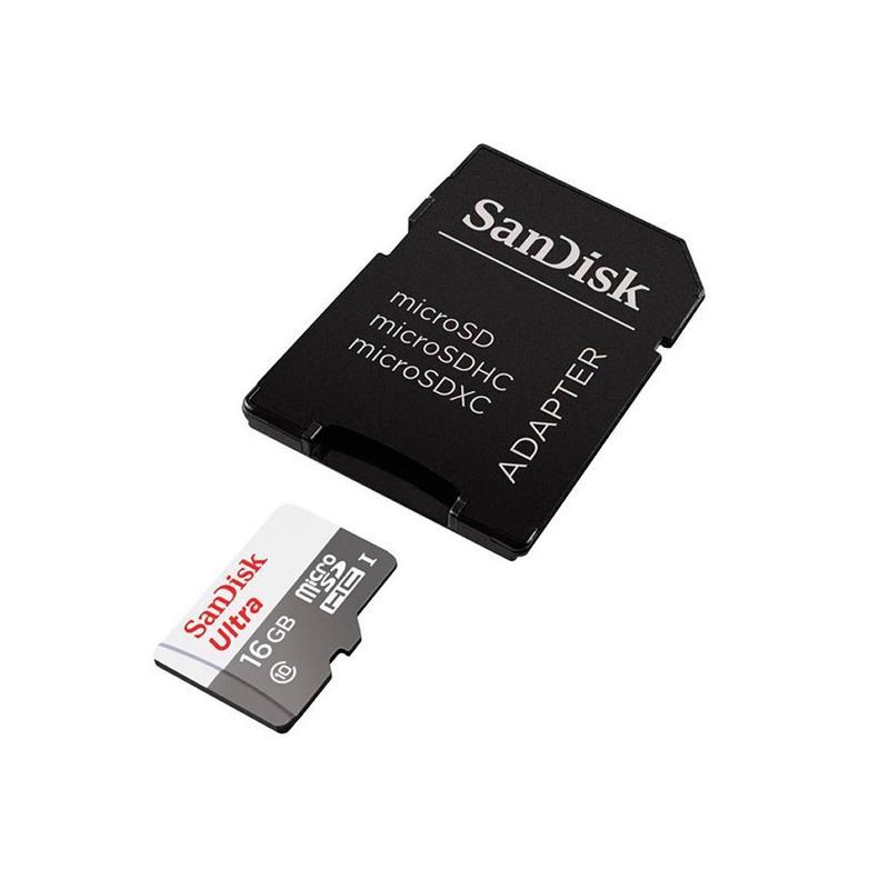MEMORIA MICRO SD XC 128GB SANDISK ULTRA C10 + ADAPTADOR