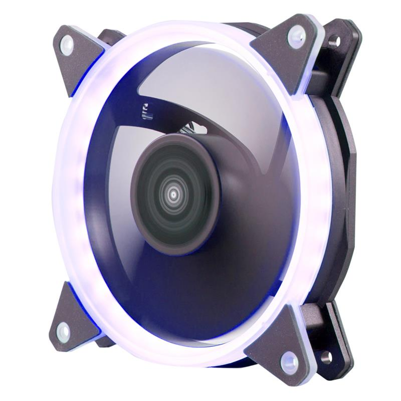 VENTILADOR 12CM UNYKA CANDY 20 ADICIONAL CHASIS BLUE RING LED