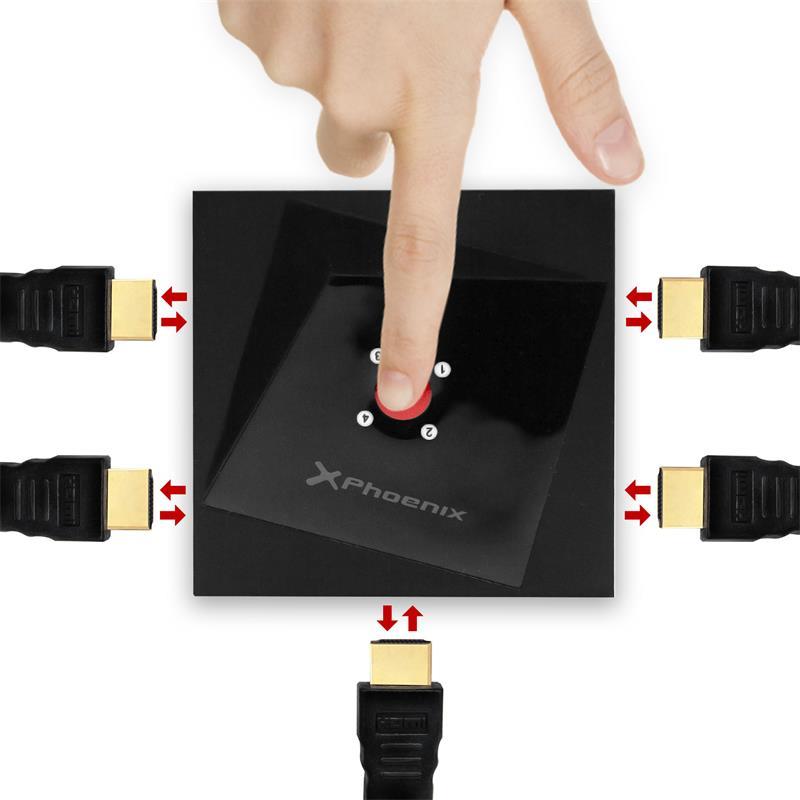 CONMUTADOR HDMI PHOENIX 4X1 SWITCH BIDIRECCIONAL