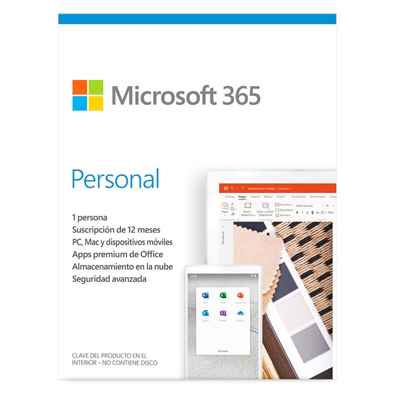 MICROSOFT OFFICE 365 PERSONAL 1 USUARIO + 1 TABLET