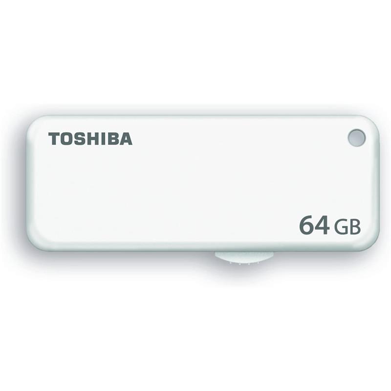 PEN DRIVE 64GB TOSHIBA USB CLICK WHITE