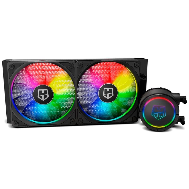 REFRIGERACION LIQUIDA CPU NOX HUMMER H-240 ARGB 2X120MM