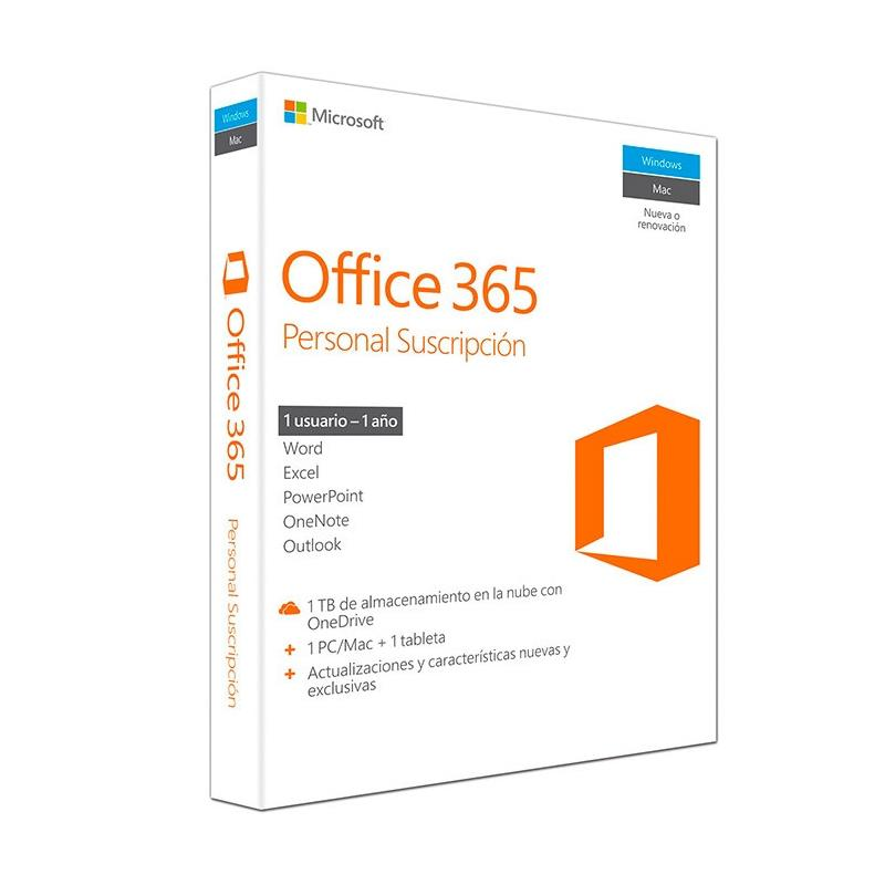 MICROSOFT OFFICE 365 PERSONAL 1LIC – 1 AÑO (LIC ELECTRONICA)