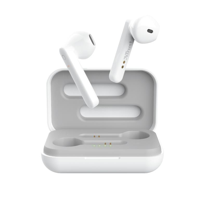 AURICULARES TRUST PRIMO TOUCH EARPHONES BLUETOOTH WIRELESS WHITE