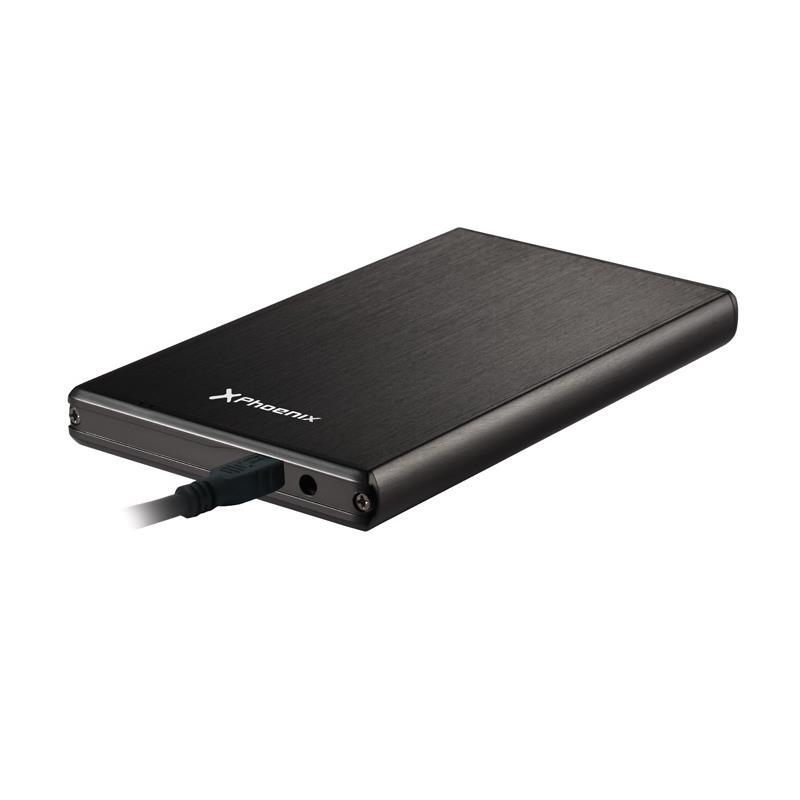 CAJA EXTERNA PHOENIX HDD 2.5 SATA USB 3.0 BLACK
