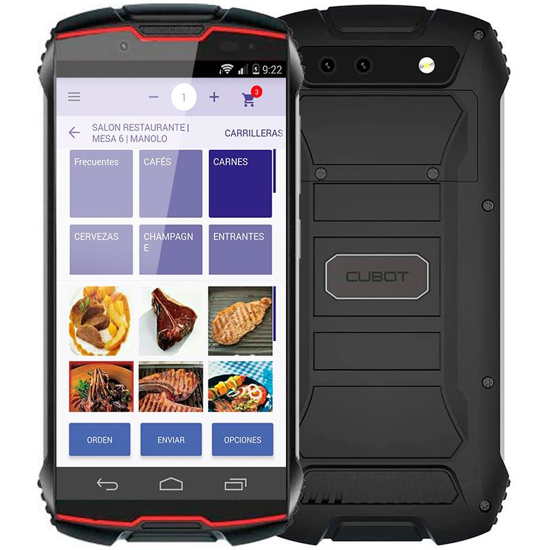 COMANDERO PDA SMARTPHONE CUBOT KING KONG MINI 4 3GB/32GB/4G/IP68/RUGER/RED