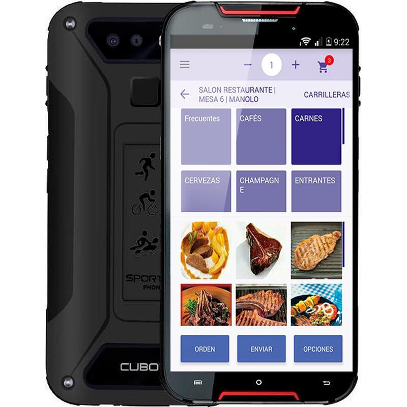 COMANDERO PDA SMARTPHONE CUBOT QUEST LITE 5 QUAD 3GB/32GB/4G/IP68/RUG/RED