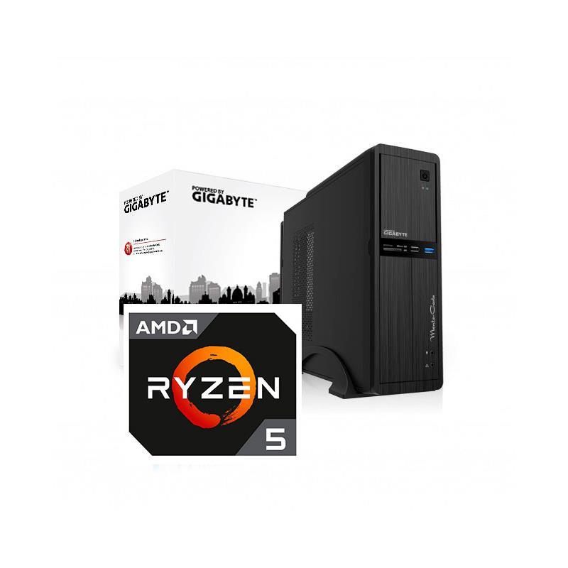 ORDENADOR PB GIGABYTE MONTECARLO RYZEN 5 1600/8GB/SSD240GB/GT710/LMT/3Y+2Y