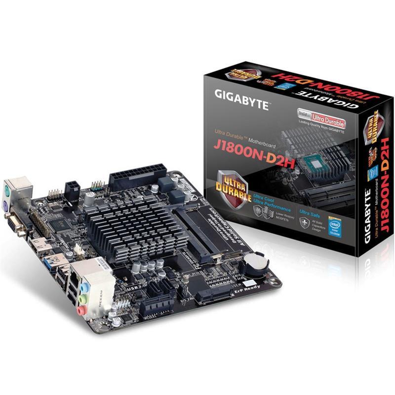 PLACA BASE GIGABYTE GA-J1800N-D2H DDR3 MINI ITX