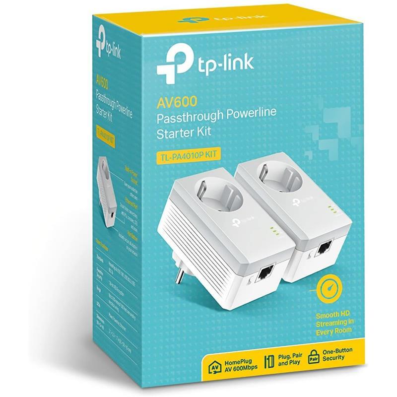 POWERLINE TP-LINK TL-PA4010PKIT ETHERNET 2UDS + ENCHUFE
