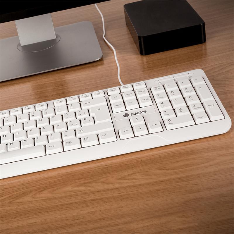 TECLADO NGS SPIKE USB WHITE