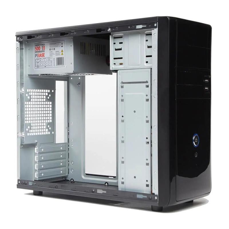 CAJA ORDENADOR PCCASE MATX + FUENTE 500W 2X USB BLACK
