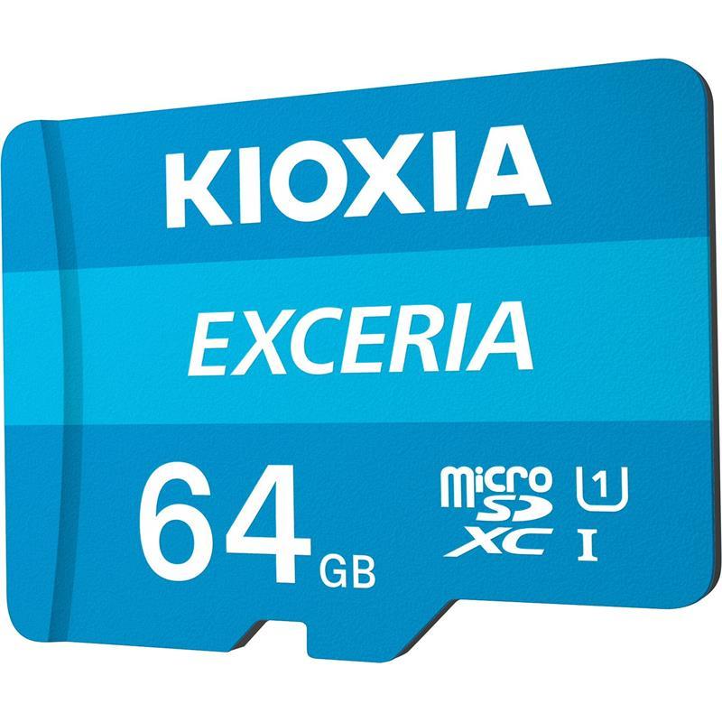 MEMORIA MICRO SD 64GB TOSHIBA KIOXIA HC C10 + ADAPTADOR SD