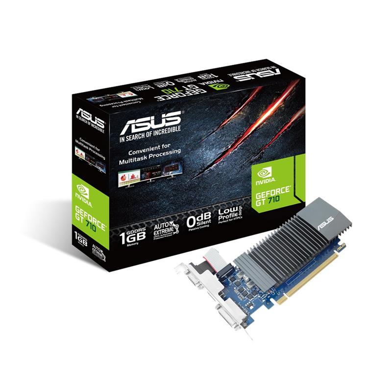TARJETA DE VIDEO ASUS GT710 1GB DDR5 VGA + DVI + HDMI LOW PROFILE
