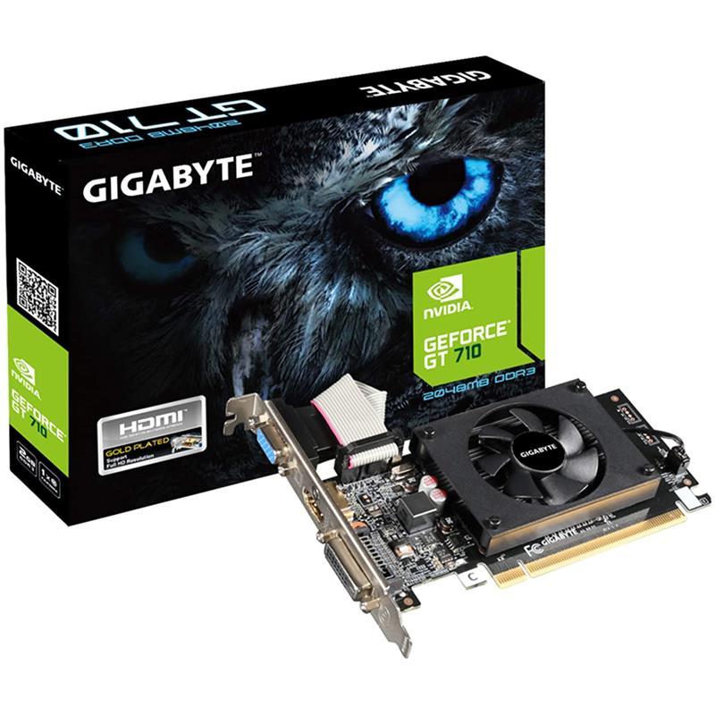 TARJETA DE VIDEO GIGABYTE GT710 2GB VGA HDMI DVI